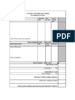 Appendices to Manual > q - Costing and Pricing Form