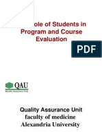ENG the Role of the Student in the Evaluation-1