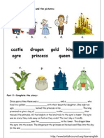 Dragon Activity - Matching and Completing the Text