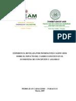 Experiencias relevadas por informantes calificados sobre el impacto del cambio climático en el ecosistema de Concepción y Amambay - Paraguay - PortalGuarani