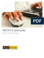 HUNT University Course Catalog 2011-2012