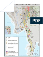 Internal Displacement-IDP MAP   Militarisation and Contested Areas in South East Burma