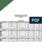 Planilla Evaluaciones Plan 992