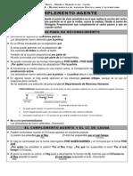Complemento Agente (Diferencias con el Complemento Circunstancial de Causa)
