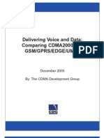 CDMA2000 GSM Comparison