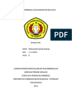 Potensi Mineral Di Kalimantan Selatan