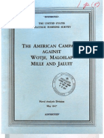 USSBS Report 76, The Allied Campaign Against Wotje