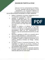 Declaracion Puerto de La Cruz