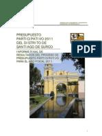 Presupuesto participativo 2011
