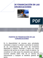 Fuentes de Financiacion Nacionales(1)