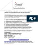 Buying and Merchandising Course Description