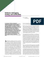 Software Debugging Testing and Verification