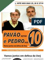 Pavão e Pedro para a Reitoria da UERJ!