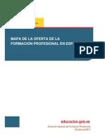Mapa completo de la Formacion Profesional en España