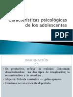Caracterícas psicologicas de los adolescentes