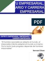 ESPÍRITU EMPRESARIAL, EMPRESARIO Y CARRERA EMPRESAR