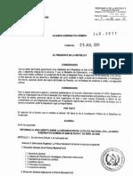 Acuerdo Gub 240-2011 Reforma to de Organizacion Pnc