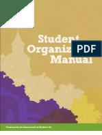 2011-2012 Student Organization Manual