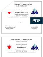 Ama Computer Learning Certificate)