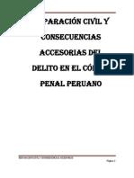 Reparación civil y consecuencias accesorias del delito en el código penal peruano