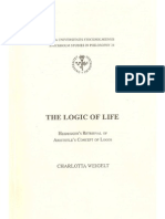 Weigelt - Logic of Life Heidegger 039 s Retrieval of Aristotle 039 s Concept of Logos Stockholm Studies in Philosophy 24