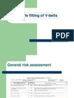 Safe Fitting of v-Belts