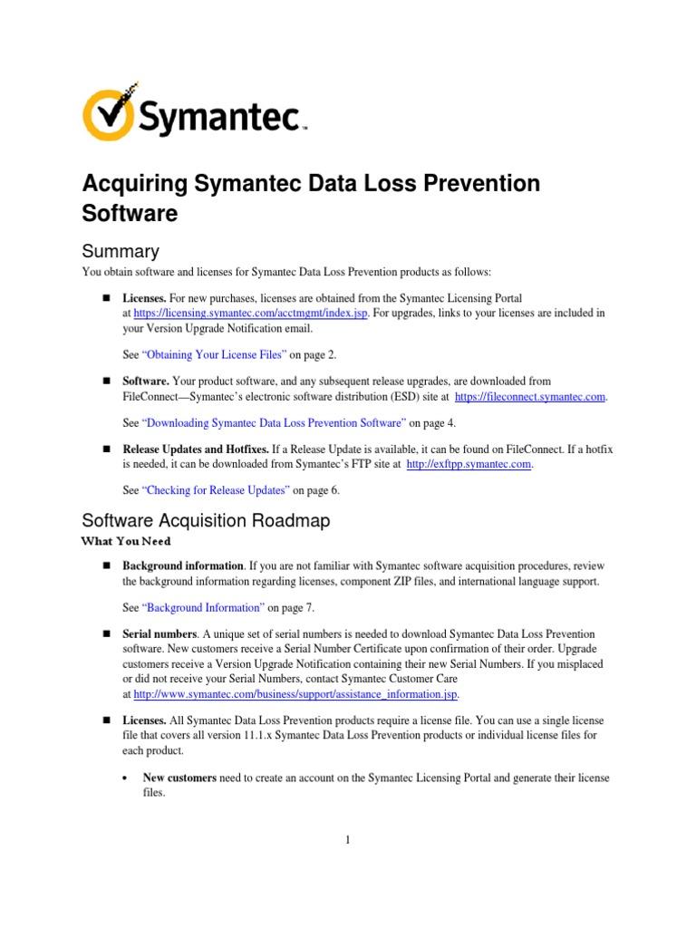 Acquiring Symantec DLP Software v11 1 1   Zip (File Format)   File