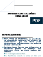 9 - Amplitude de Controle e Níveis Hierárquicos