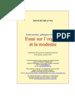 Hume - Essai Sur l'Orgueil Et La Modestie
