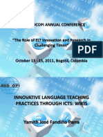 46th Asocopi Innovative Language Teaching Practices with ICT