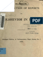 Collections of Reports on Bolshevism in Russia (1919)