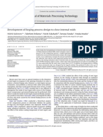 Development of Forging Process Design to Close Internal Voids