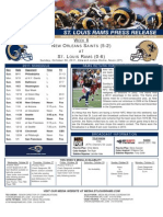 Week 8 Rams vs Saints