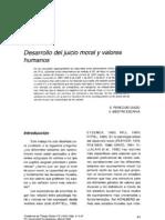 Desarrollo Del Juicio Moral y Valores Humanos