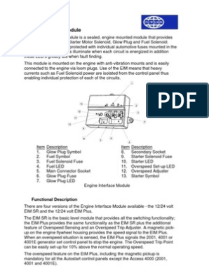 Engine Interface Module | Relay | Electrical Connector | Working And Engine Interface Module Wiring Diagram |  | Scribd