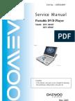 Dpc-8100p 8500p Daewoo Dvd Portable Player