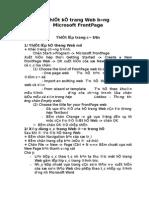 Hoc Thiet Ke Web Bang FontPage