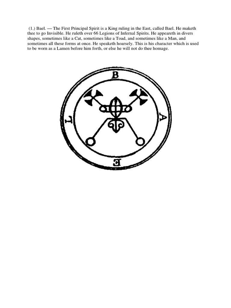 goetia | Demons | Theft