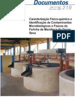 Caracterização físico-química de farinha de mandioca