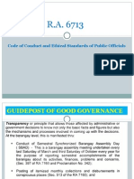 Ra 6713-Code of Ethical Standards