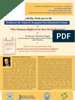 Sengupta Memorial Lecture Prof. Thomas Pogge