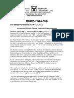 CFIDS Media Release