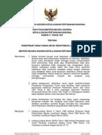 Keputusan Menteri Negara Agraria Kbpn Nomor 11 Tahun 1997 Ttg Penertiban Tanah Tanah Obyek Redistribusi Land Reform