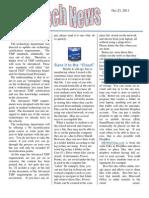 Oct 23, 2011 Newsletter