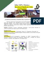 Taller de Hardware Libre UDO Plc, Conograma y Datos Bancarios