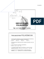Inecuaciones Polinomicas y Racionales