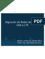 Migracion de Redes de Acceso GSM a LTE