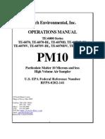 Pm10sampler Manual