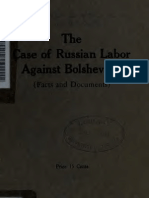 The Case of Russian Labor vs. Bolshevism