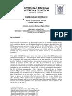 UNAM Historia Económica de México II Extraordinario RESULTADOS
